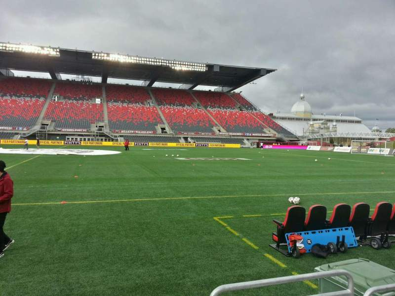 Seating view for TD Place Stadium Section s Row 3 Seat 2