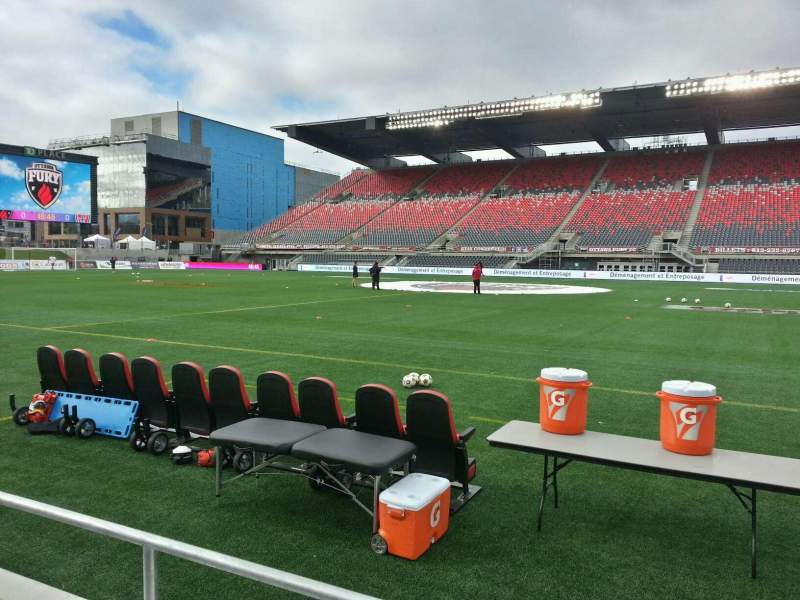 Seating view for TD Place Stadium Section r Row 2 Seat 2