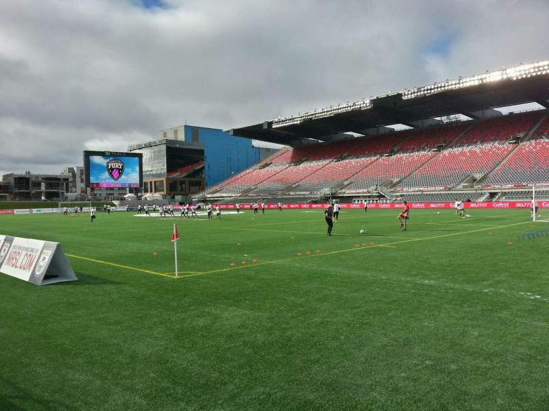Seating view for TD Place Stadium Section n Row 2 Seat 4