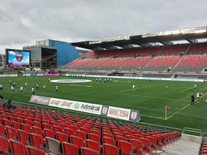 Seating view for TD Place Stadium Section m Row 18 Seat 19