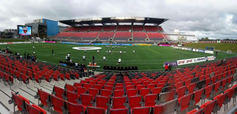 Seating view for TD Place Stadium Section q Row acc Seat 10