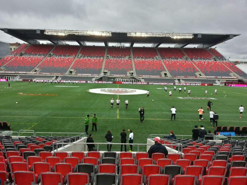 Seating view for TD Place Stadium Section s Row acc Seat 5