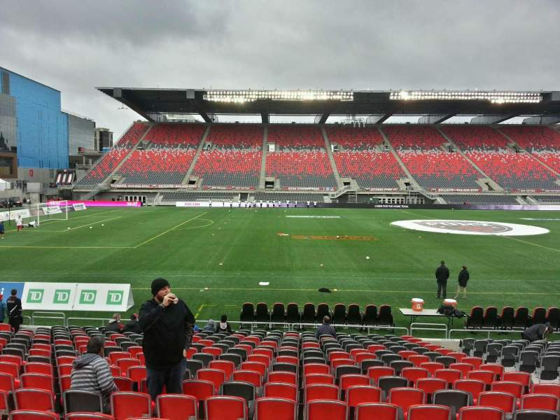 Seating view for TD Place Stadium Section v Row acc Seat 4