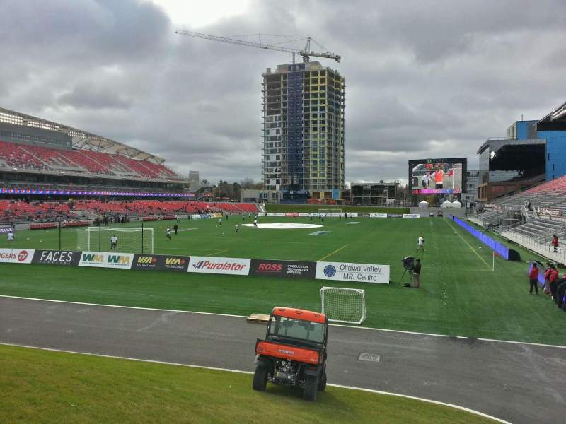 Seating view for TD Place Stadium Section Bridge