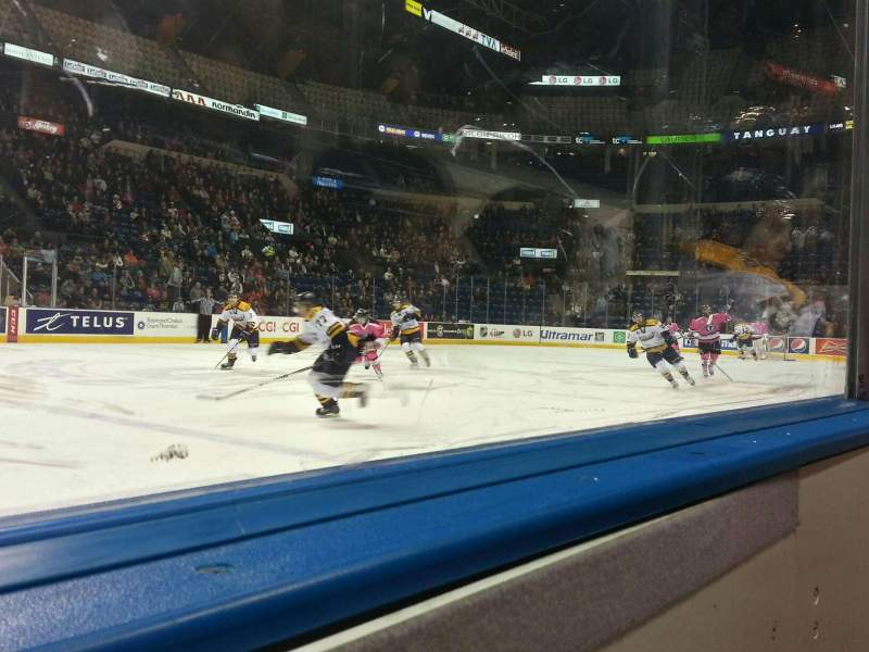 Seating view for Colisée Pepsi Section 110 Row a Seat 11