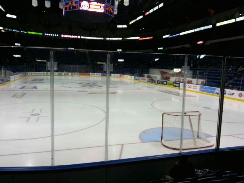 Seating view for Colisée Pepsi Section 103 Row f Seat 1