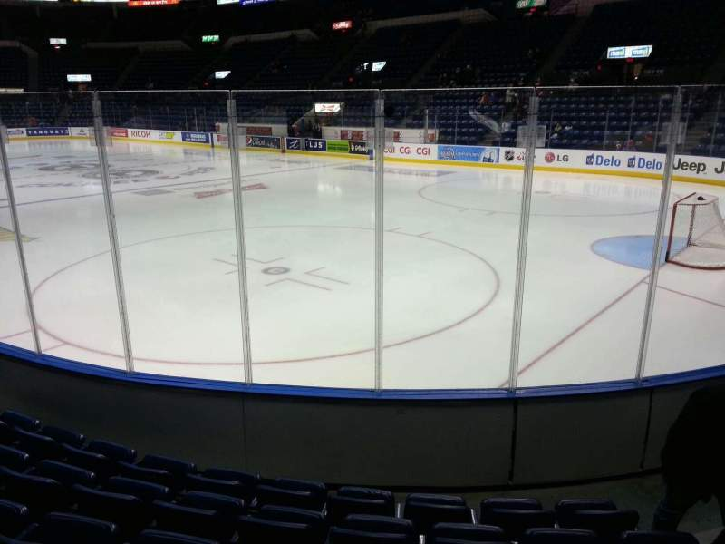 Seating view for Colisée Pepsi Section 105 Row f Seat 5