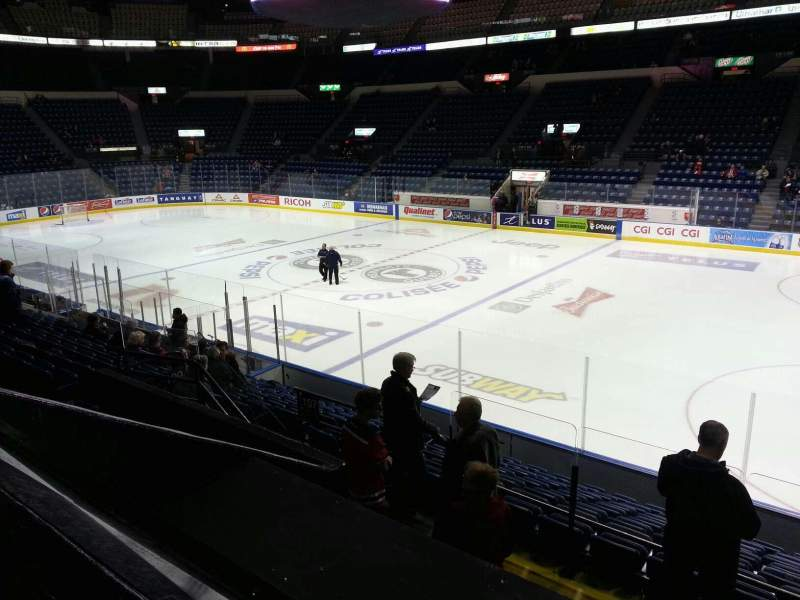 Seating view for Colisée Pepsi Section 107 Row d Seat 7