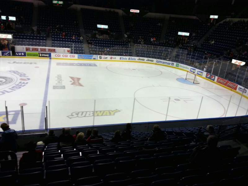 Colisée Pepsi, section: 109, row: p, seat: 10