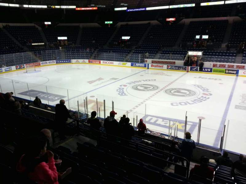 Seating view for Colisée Pepsi Section 109 Row p Seat 10