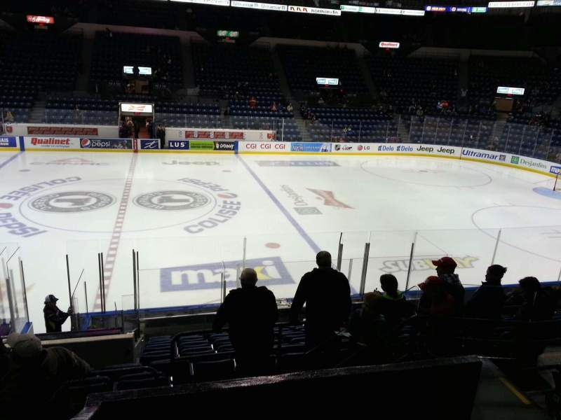 Seating view for Colisée Pepsi Section 111 Row o Seat 5