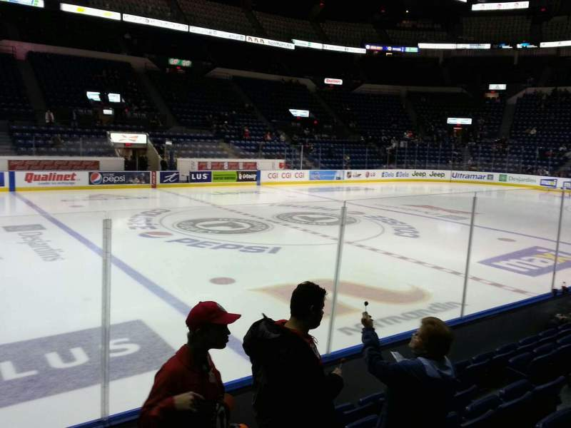 Seating view for Colisée Pepsi Section 113 Row f Seat 8