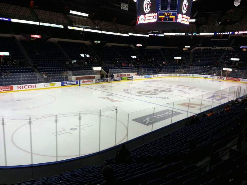 Seating view for Colisée Pepsi Section 117 Row n Seat 12
