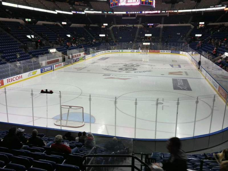 Seating view for Colisée Pepsi Section 119 Row o Seat 44