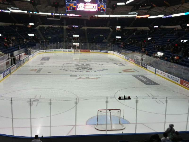 Seating view for Colisée Pepsi Section 121 Row p Seat 18