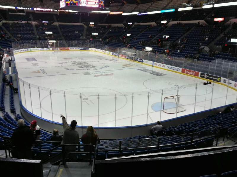Seating view for Colisée Pepsi Section 120 Row p Seat 15