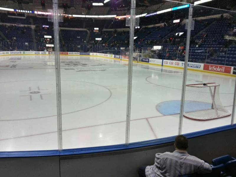 Seating view for Colisée Pepsi Section 120 Row d Seat 1