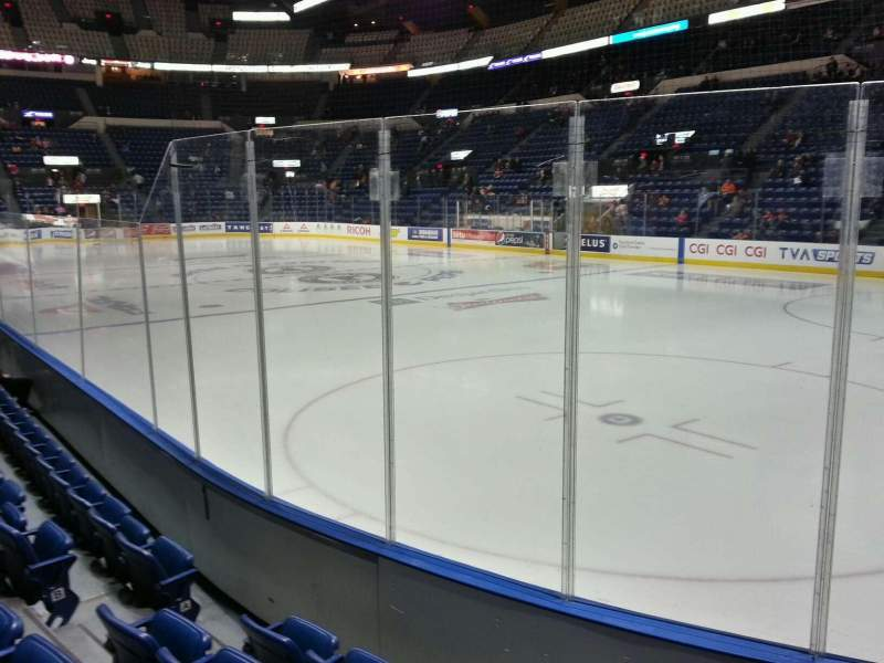 Seating view for Colisée Pepsi Section 118 Row e Seat 9