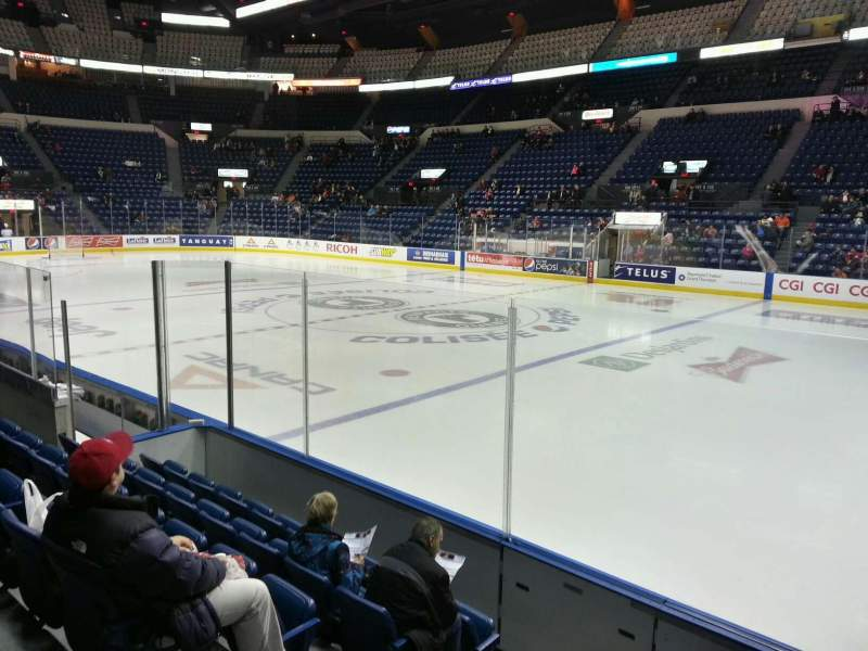 Seating view for Colisée Pepsi Section 116 Row f Seat 16
