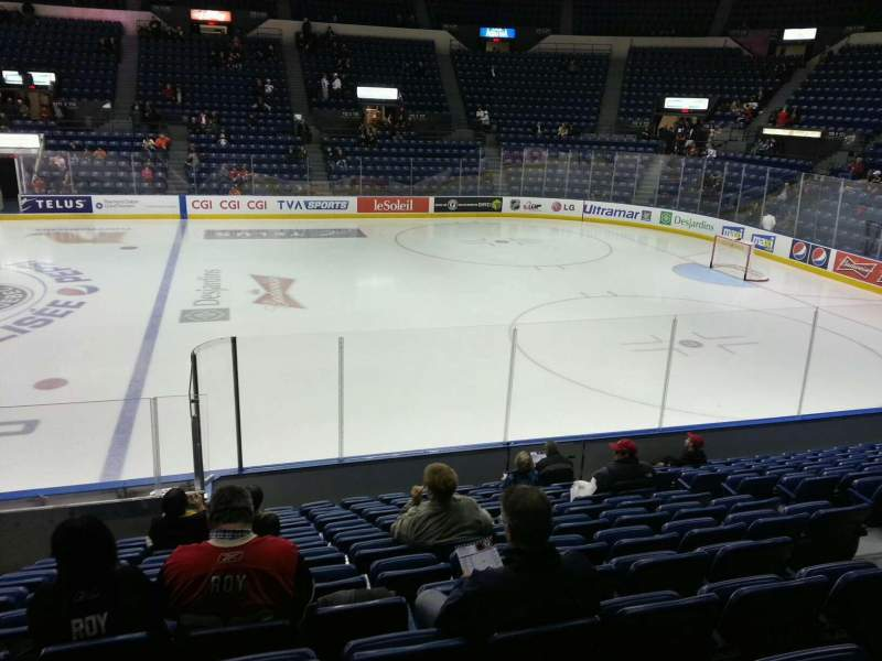 Seating view for Colisée Pepsi Section 114 Row m Seat 8