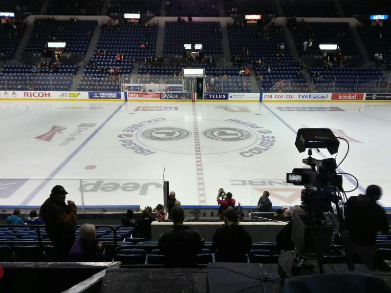 Seating view for Colisée Pepsi Section 112 Row o Seat 10