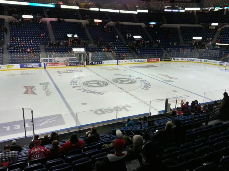 Seating view for Colisée Pepsi Section 110 Row p Seat 13
