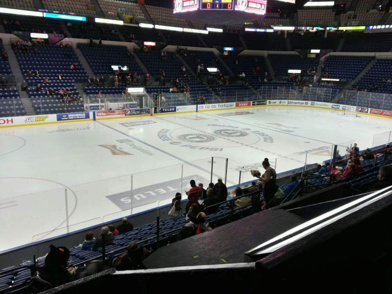Seating view for Colisée Pepsi Section 108 Row p Seat 14