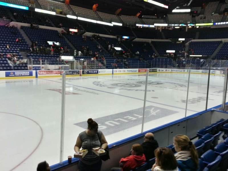 Seating view for Colisée Pepsi Section 108 Row e Seat 12