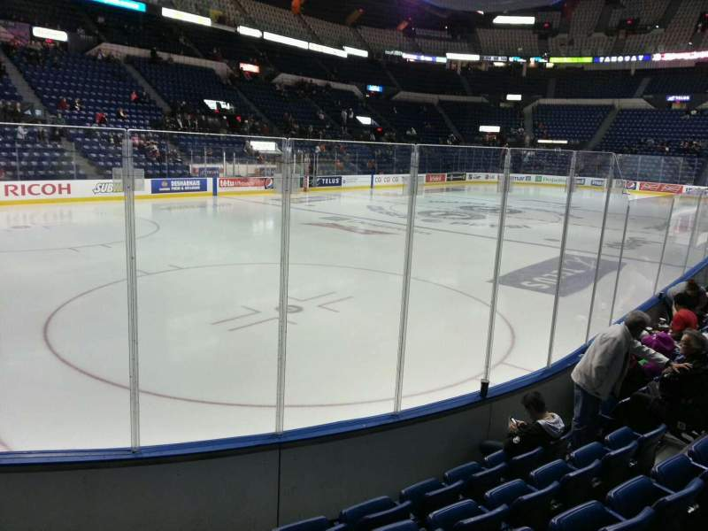 Seating view for Colisée Pepsi Section 106 Row f Seat 11