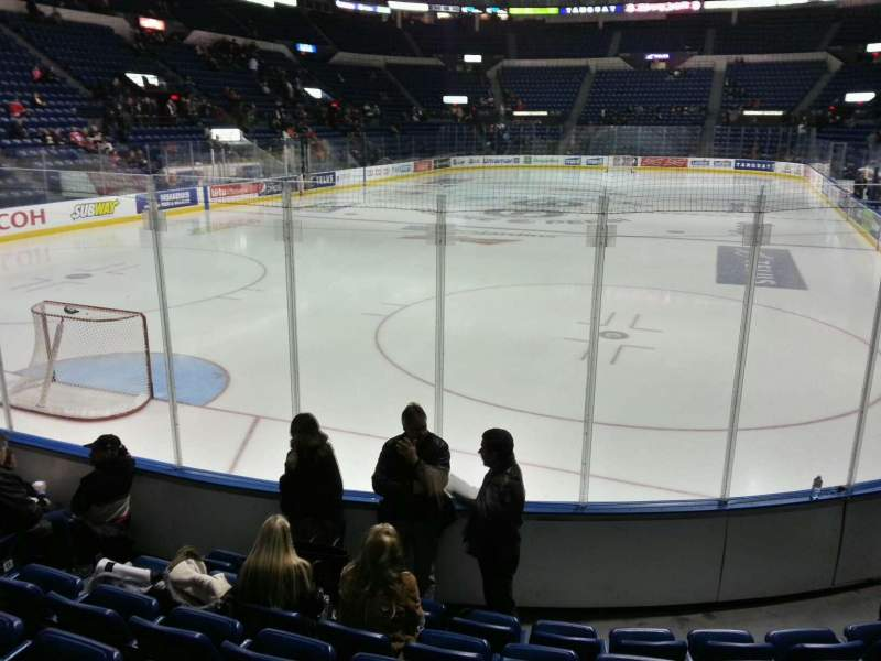 Seating view for Colisée Pepsi Section 104 Row e Seat 12