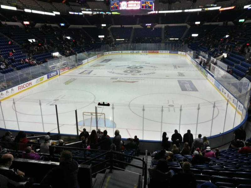 Seating view for Colisée Pepsi Section 104 Row q Seat 44