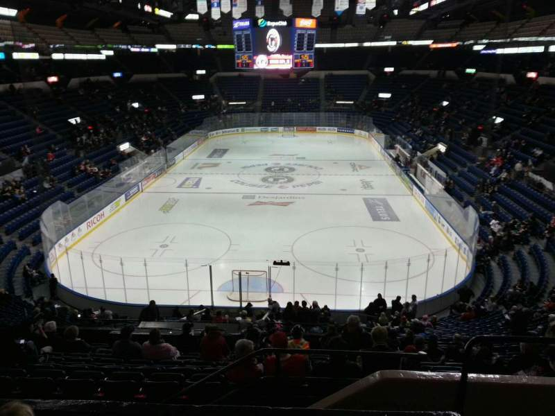 Seating view for Colisée Pepsi Section 201 Row d Seat 2