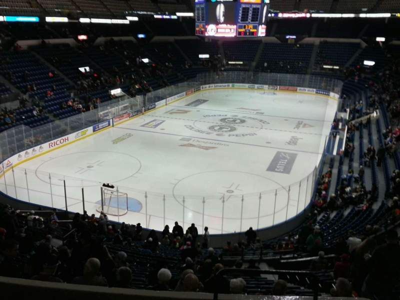 Seating view for Colisée Pepsi Section 204 Row e Seat 31