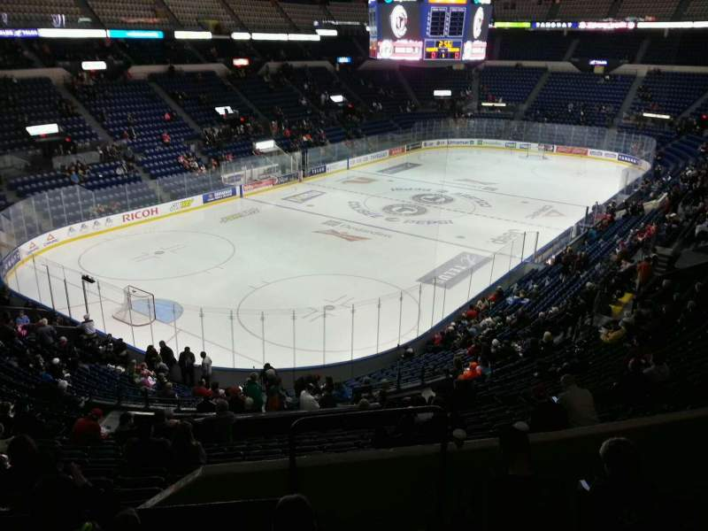 Seating view for Colisée Pepsi Section 204 Row e Seat 1