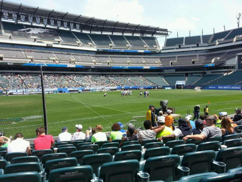 Seating view for Lincoln Financial Field Section 136 Row 10 Seat 10