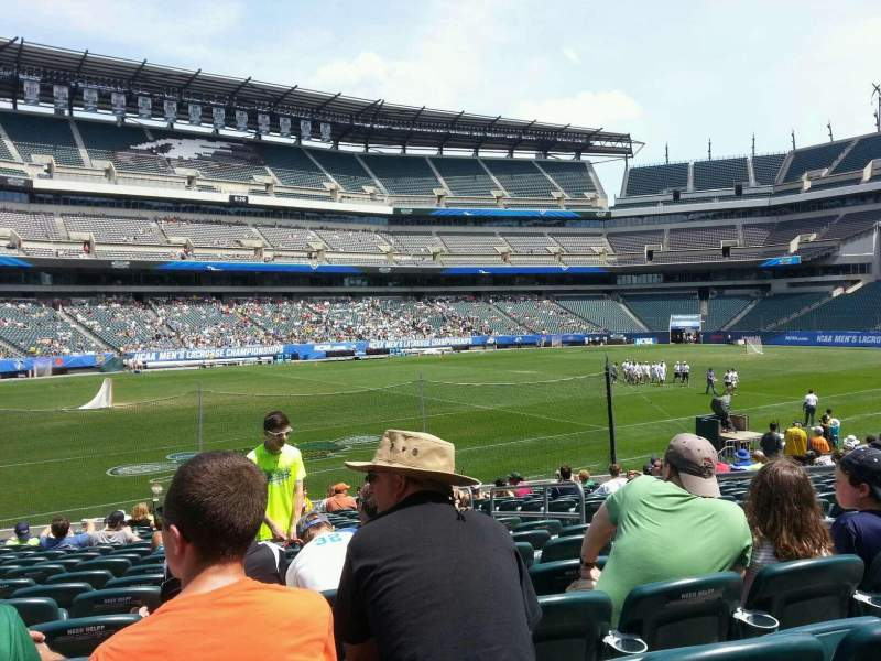 Seating view for Lincoln Financial Field Section 135 Row 18 Seat 6