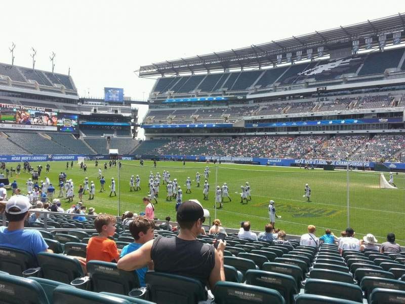 Seating view for Lincoln Financial Field Section 124 Row 15 Seat 18