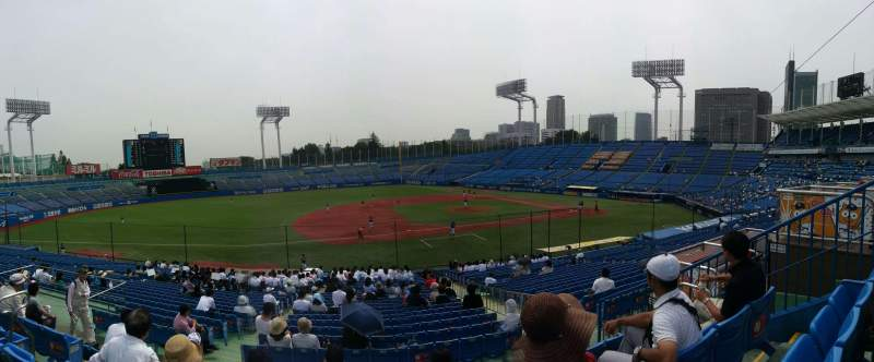 Seating view for Jingu Stadium Section 11 Row 31 Seat 116