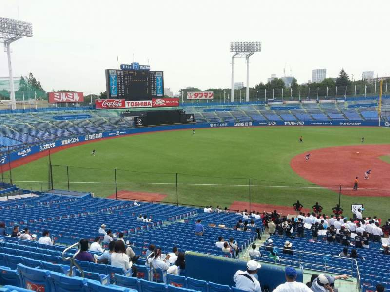 Seating view for Jingu Stadium Section 11 Row 39 Seat 133