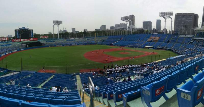 Seating view for Jingu Stadium Section 12 Row 45 Seat 154