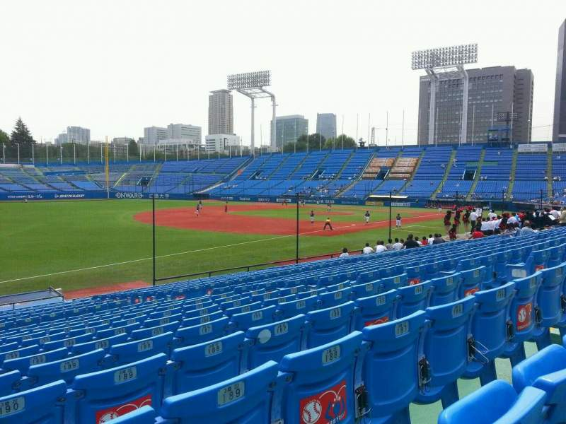 Seating view for Jingu Stadium Section 12 Row 25 Seat 191
