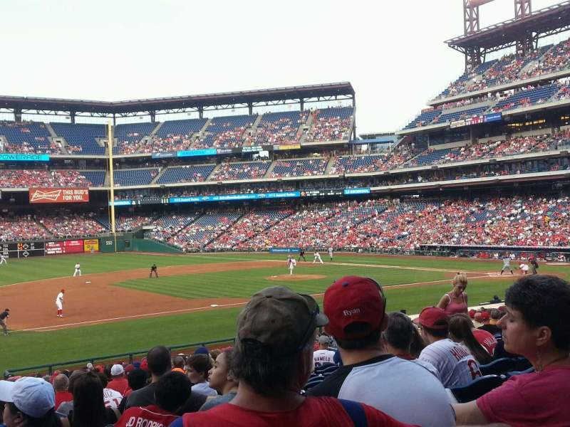 Seating view for Citizens Bank Park Section 133 Row 29 Seat 14