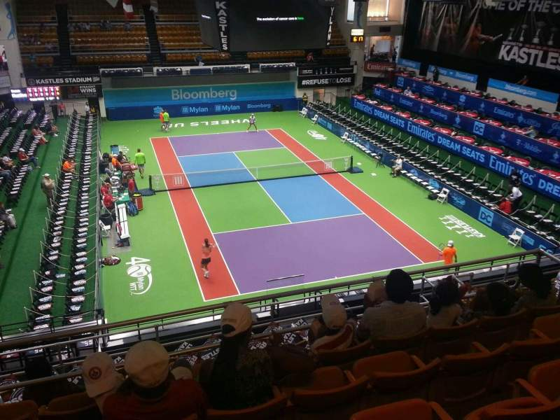 Seating view for Kastles Stadium Section 210 Row k Seat 9
