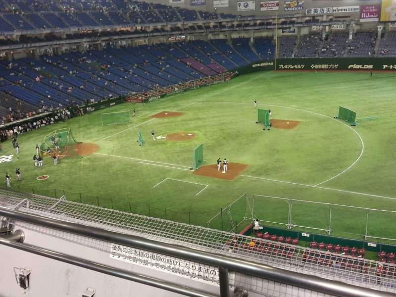 Seating view for Tokyo Dome Section Home Row 2 Seat 265