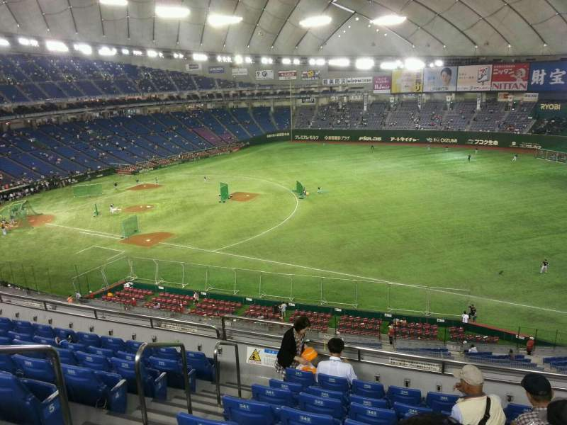 Seating view for Tokyo Dome Section Home Row 8 Seat 343