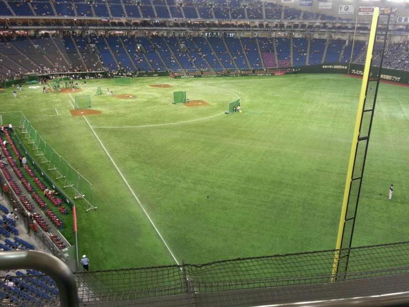Seating view for Tokyo Dome Section Home Row 1 Seat 481