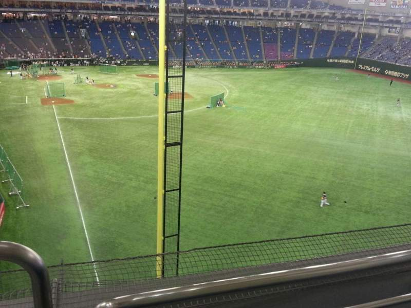 Seating view for Tokyo Dome Section Home Row 1 Seat 501