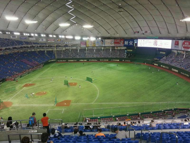 Seating view for Tokyo Dome Section Home Row 22 Seat 227
