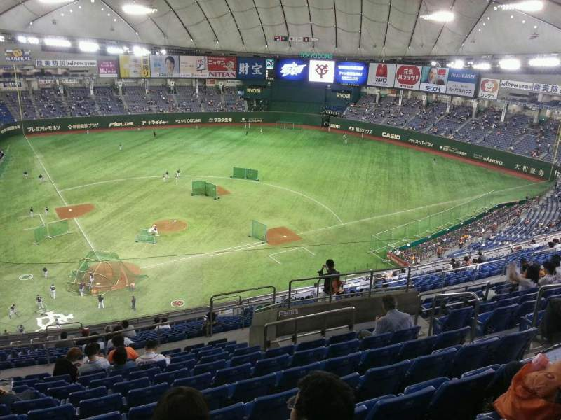 Tokyo Dome, section: Home, row: 22, seat: 90