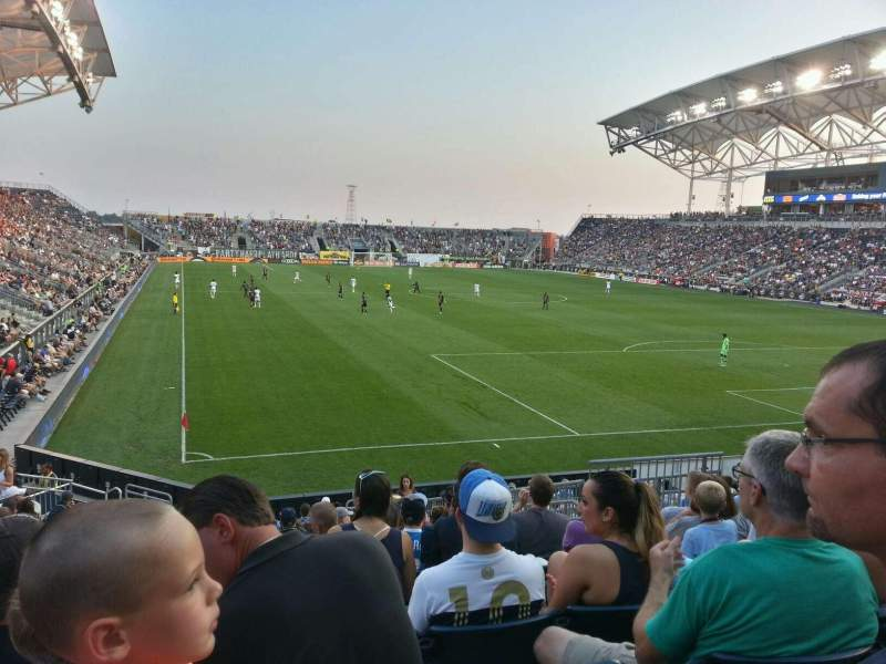 Seating view for Talen Energy Stadium Section 120 Row r Seat 10